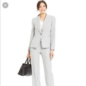 Tahari ASL petite gray suit (blazer and trousers)